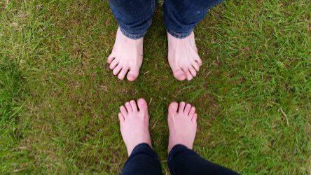bare-feet on the grass