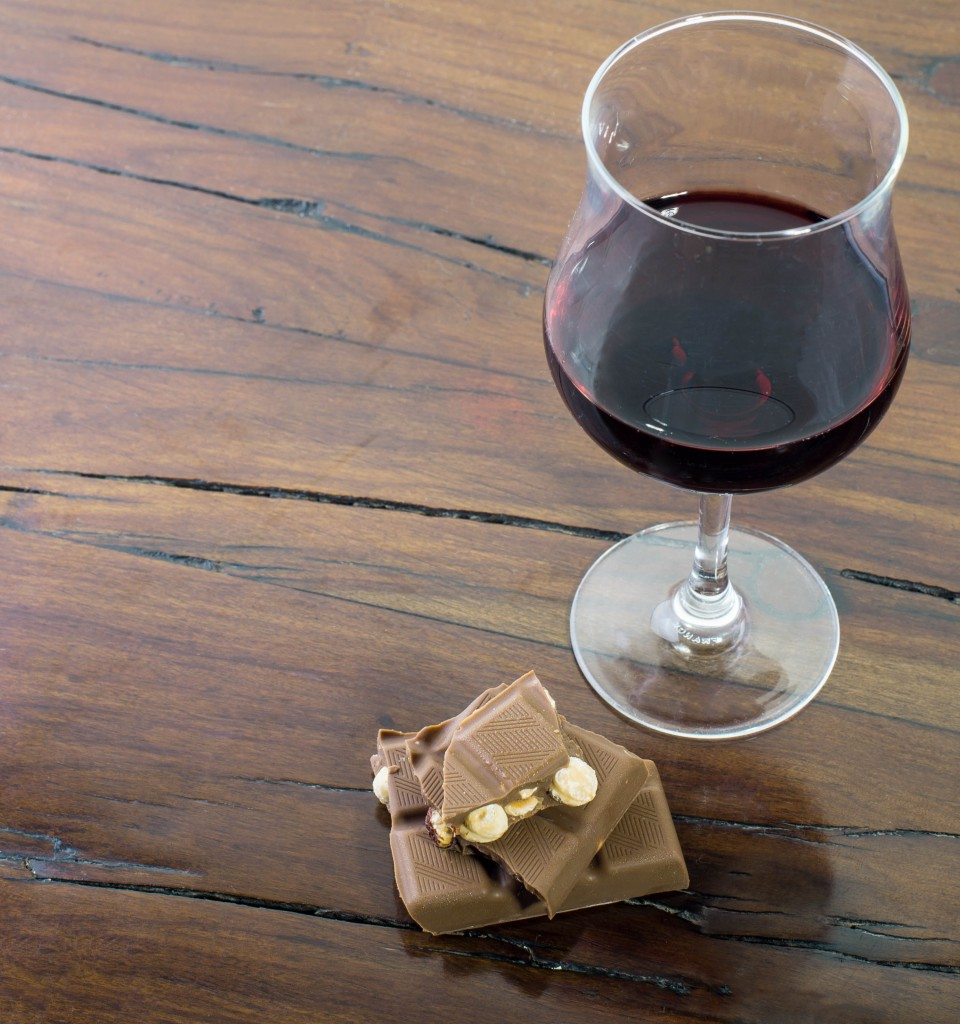 Chocolates and wine