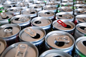 Pupils breakfasting on energy drinks