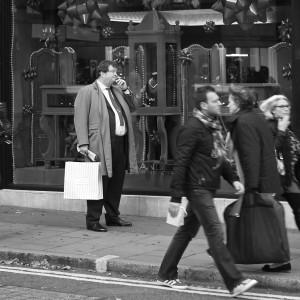 Fat man in the street
