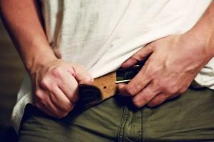 Notch on belt