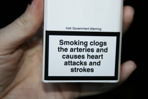 Plain cigarette packets in the UK