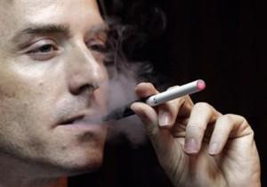 smoking an e-cig